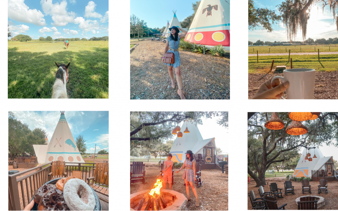 Westgate River Ranch camp in a tipi tent| glamping tents